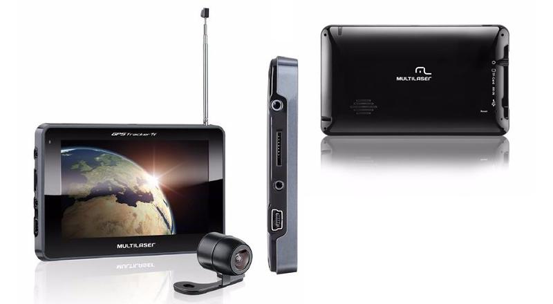 GPS para Carros 7´ C/ CAM de Ré TV FM-Multilaser GP039