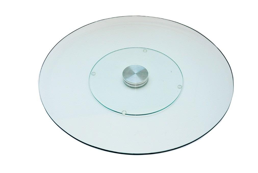 Prato Giratório de Vidro Temperado 70cm 8mm espessura Incolor