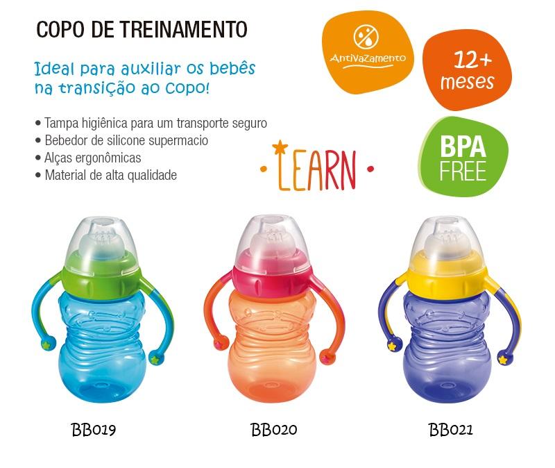 Copo de treinamento com Bebedor de Silicone - BB01
