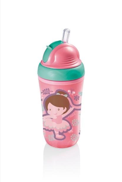 Copo Térmico com Canudo para Menina - Multikids Baby BB035