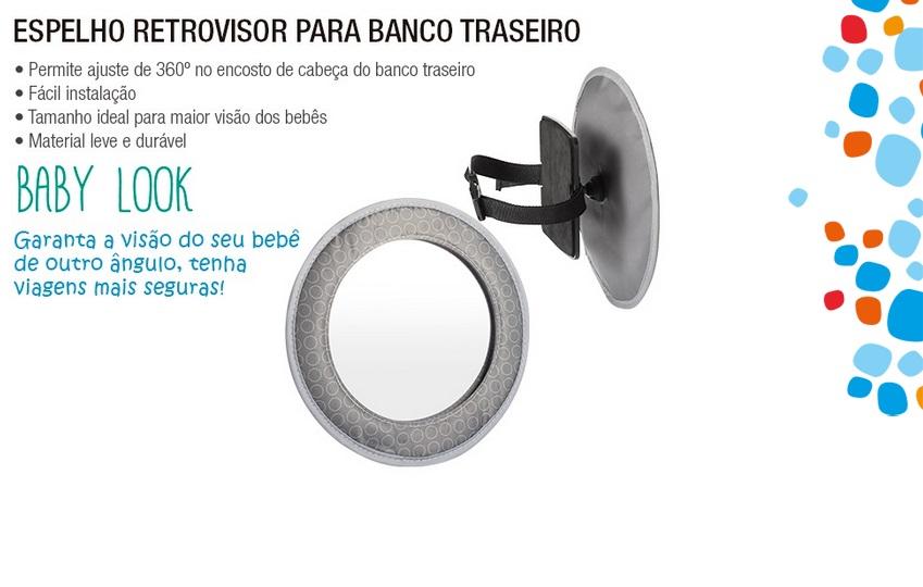Espelho Retrovisor para Banco Traseiro Baby Look Multikids Baby BB181
