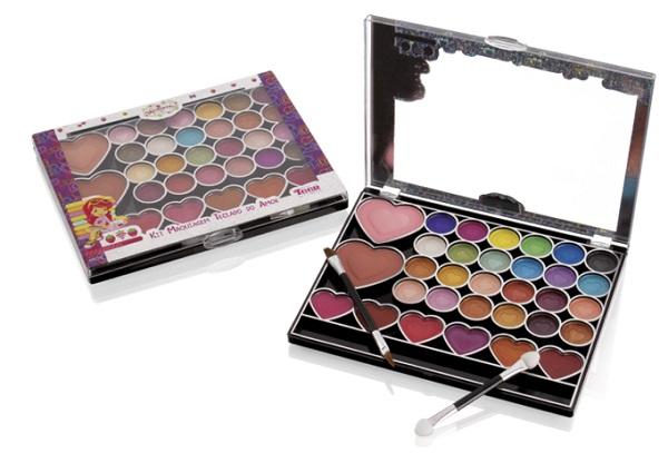 Kit de maquiagem Moranguinho #Compartilhando Fenzza KMM2872
