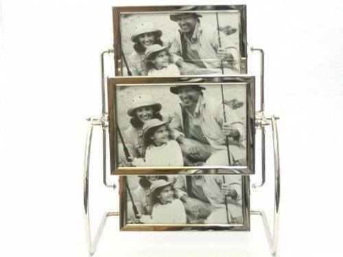 Porta retrato giratório horizontal 8 fotos