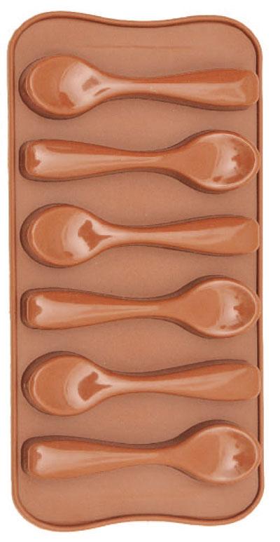 Forma De Silicone Para Chocolate Colher Eco-556