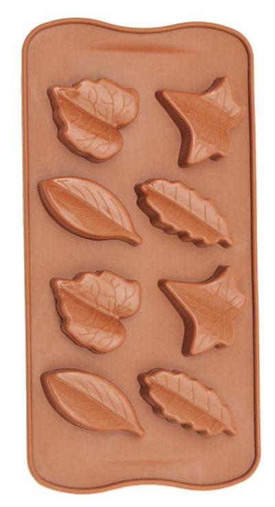 Forma De Silicone Para Chocolate Folhas Outono Eco-554