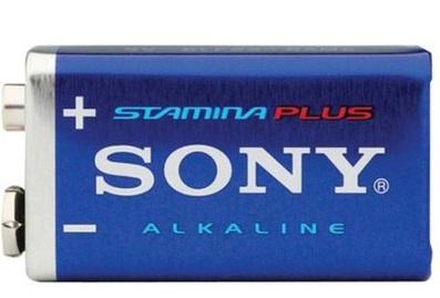 Pilhas Sony alcalinas STAMINA PLUS 9V - 6AM6-B1D
