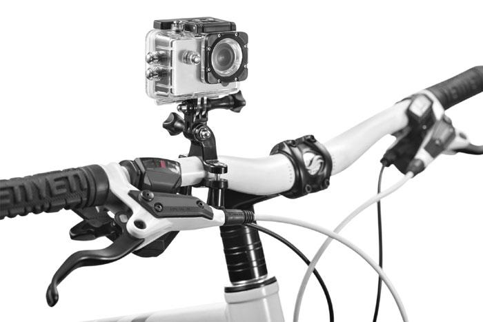 Suporte De Guidao Atrio Para Camera De Acao - Es070