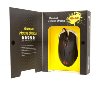 Mouse BraView Óptico Gamer MO-G4 USB DPI 2400 Vermelho