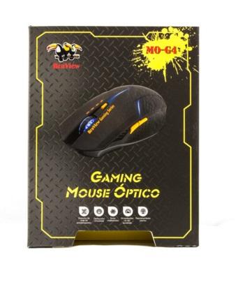 Mouse BraView Óptico Gamer MO-G4 USB DPI 2400 Laranja