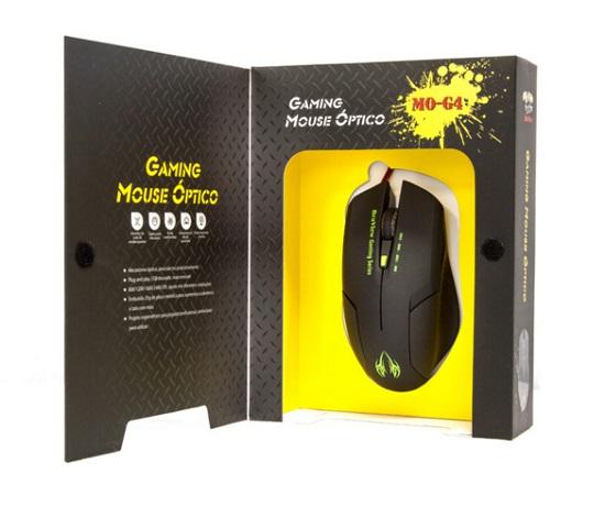 Mouse BraView Óptico Gamer MO-G4 USB DPI 2400 Verde