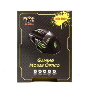 Mouse BraView Óptico Gamer MO-192 USB DPI 2400 Verde
