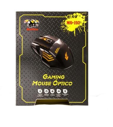 Mouse BraView Óptico Gamer MO-192 USB DPI 2400 Laranja