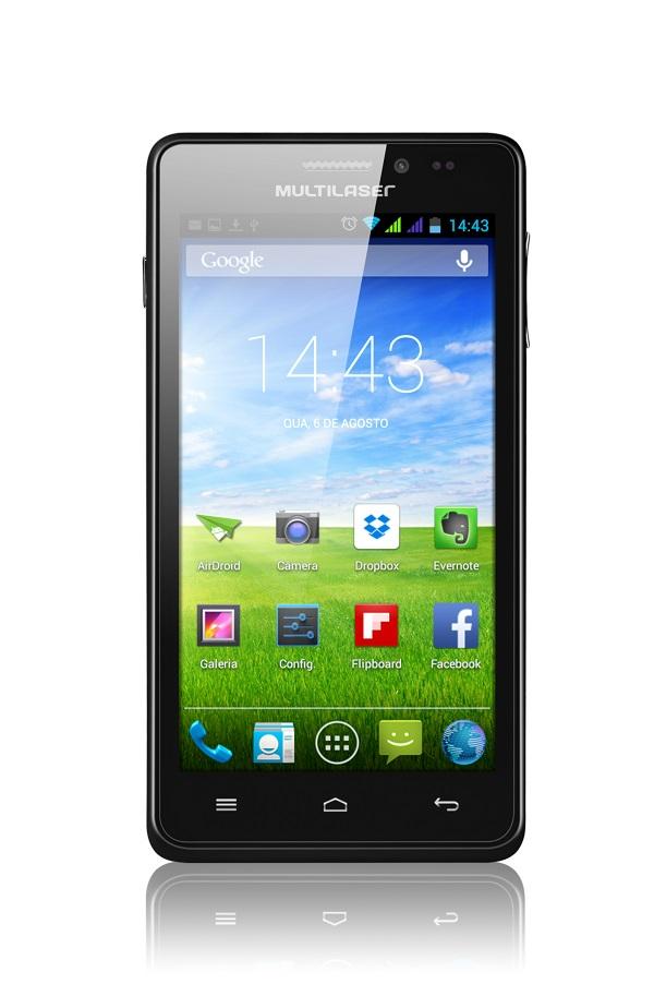 Smartphone Multilaser Ms5 Preto Com Tela De 4.5 Dual Chip Android 4.2 - P3272