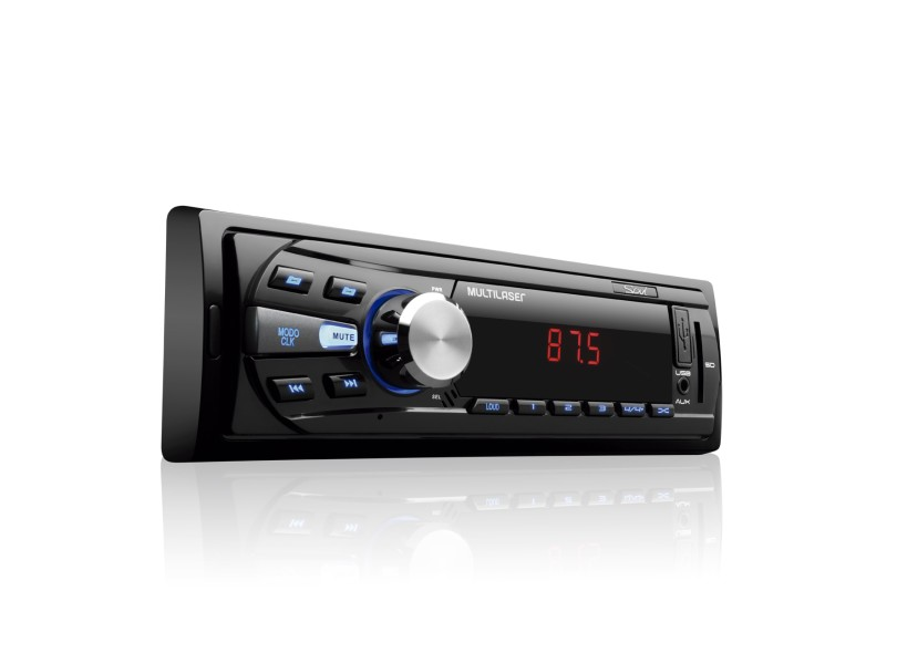 Som Automotivo Multilaser Rádio Fm Com Usb Aux E Sd Card Led Soul ( Conector Iso ) - P3294
