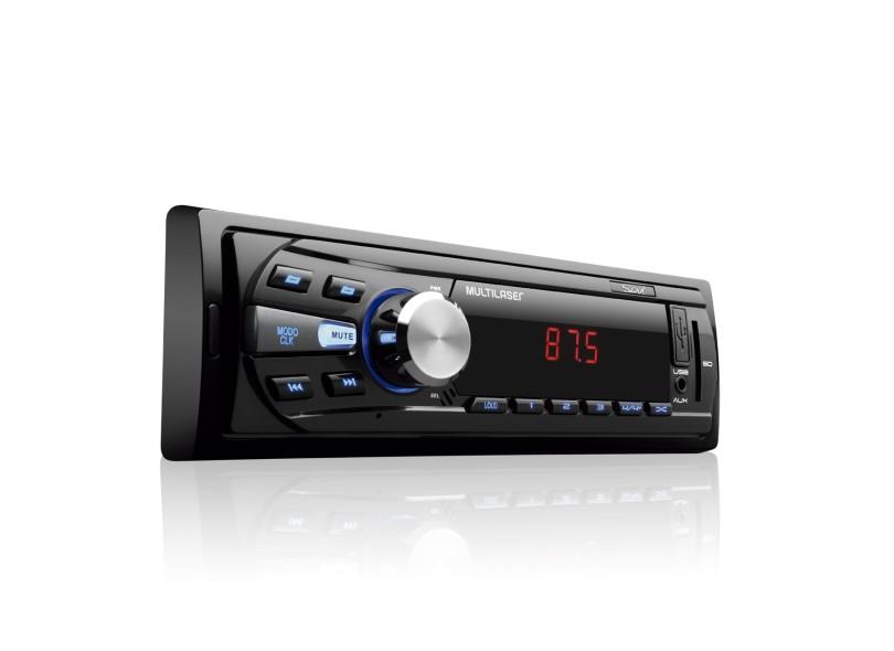 Som Automotivo Multilaser Rádio Fm Com Usb Aux E Sd Card Led Soul ( Conector Iso ) - P3294