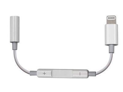 Adaptador de Lightning para conector de fones de ouvido de 3,5 mm P2