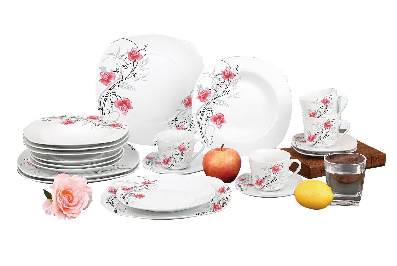 Aparelho De Jantar Estampado 20 Peças Sanxia 3442