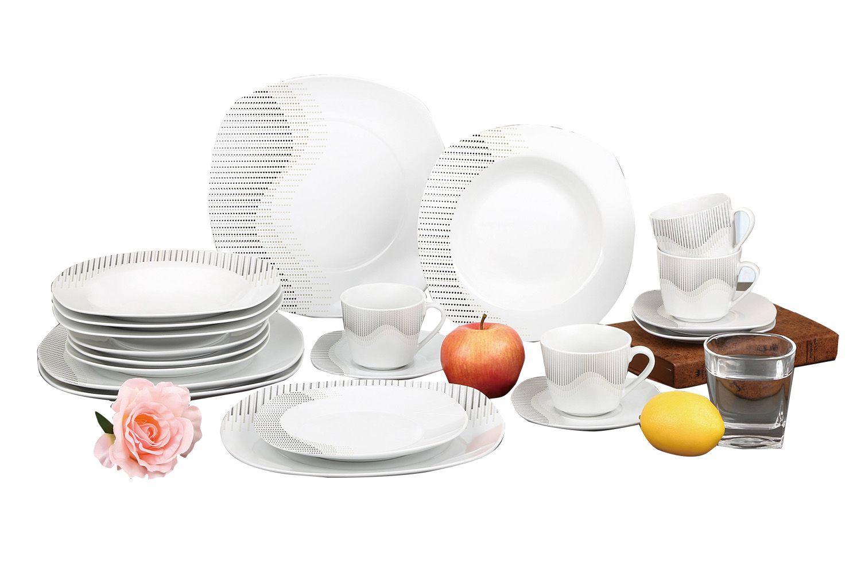 Aparelho De Jantar Estampado 20 Peças Sanxia 3443