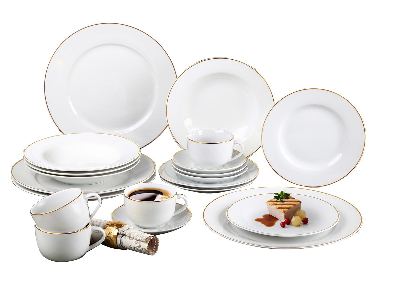 Aparelho De Jantar Estampado 20 Peças Sanxia 3444
