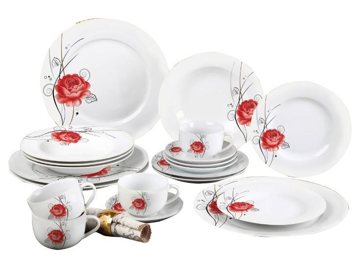 Aparelho De Jantar Estampado 20 Peças Sanxia 3447