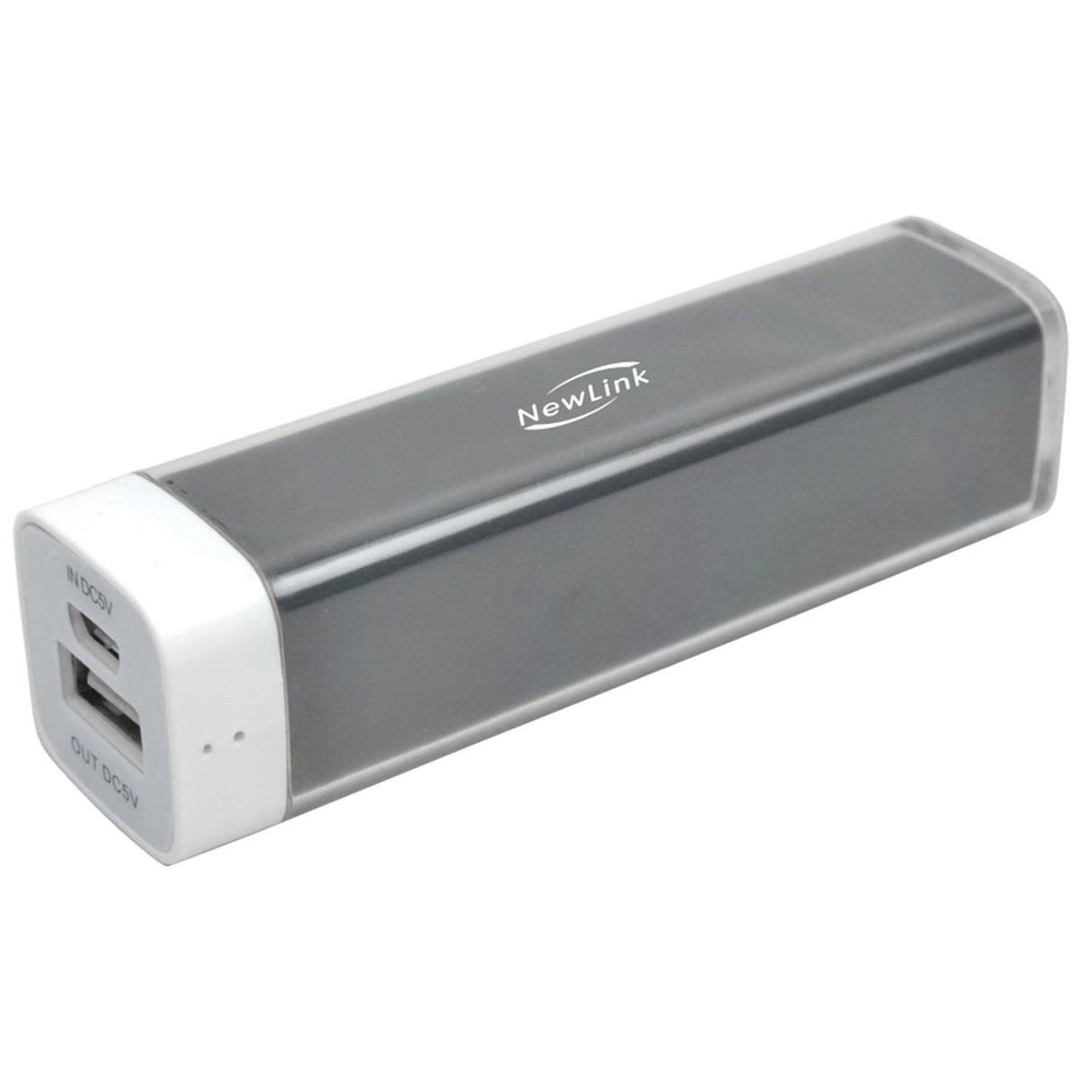 Bateria Externa Tube 2500Mah Preto Be201 Newlink