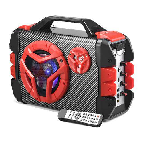 Caixa De Som 6 Em 1 100w Com Bateria Lítio Bluetooth Sp250 Multilaser