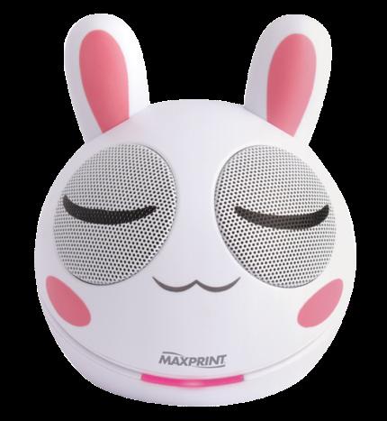 Caixa de Som Portátil Maxprint Mini Rabbit Potência 4w Rms, Entrada Mini USB
