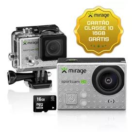 Câmera de Ação Mirage Sport HD + Cartão de Memória 16GB - MR3000