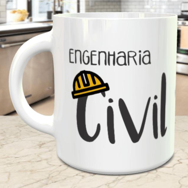 Caneca Porcelana Engenharia Civil