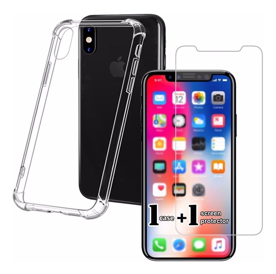 Capa Anti Shock iPhone XR + Película de Vidro