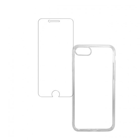 CAPA PARA APPLE IPHONE 7 ACRÍLICO TRANSPARENTE + Película