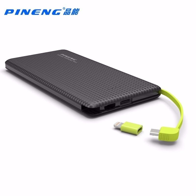 Carregador Portátil Power Bank Pineng 5000mah Original Preto
