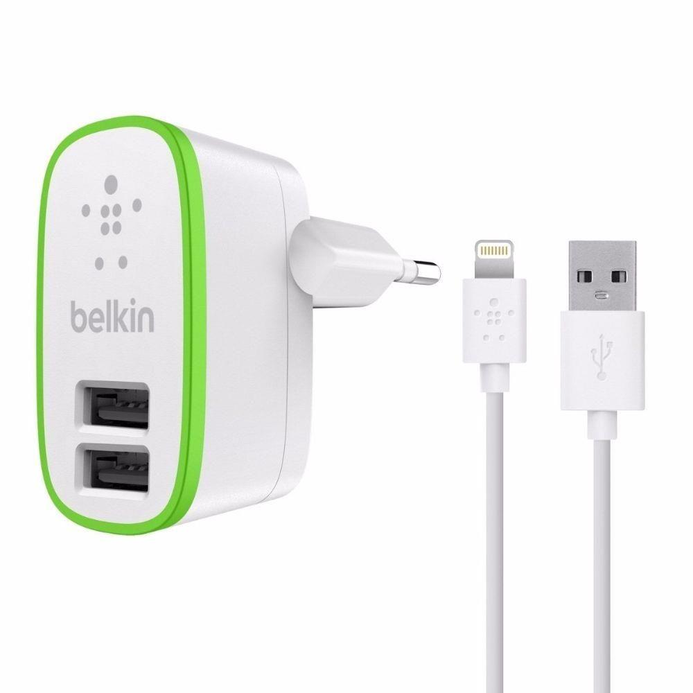 CARREGADOR USB + CABO DE DADOS IPHONE 5/6 BELKIN