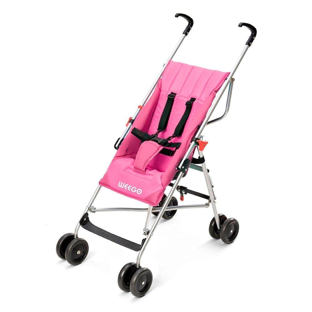 Carrinho De Bebê Guarda-chuva Weego Way Rosa - Bb508