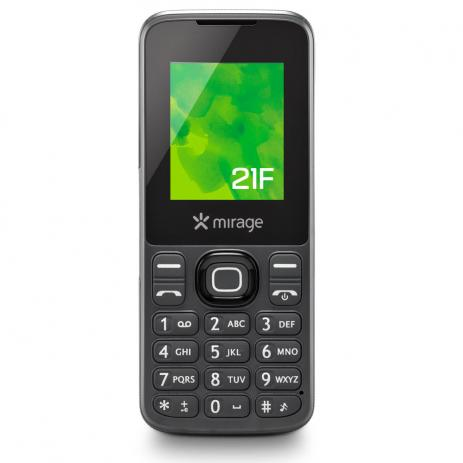"Celular Mirage 21F Dual Chip Tela 1.8"" Câm VGA MP3 e Rádio FM Cinza - Mirage"