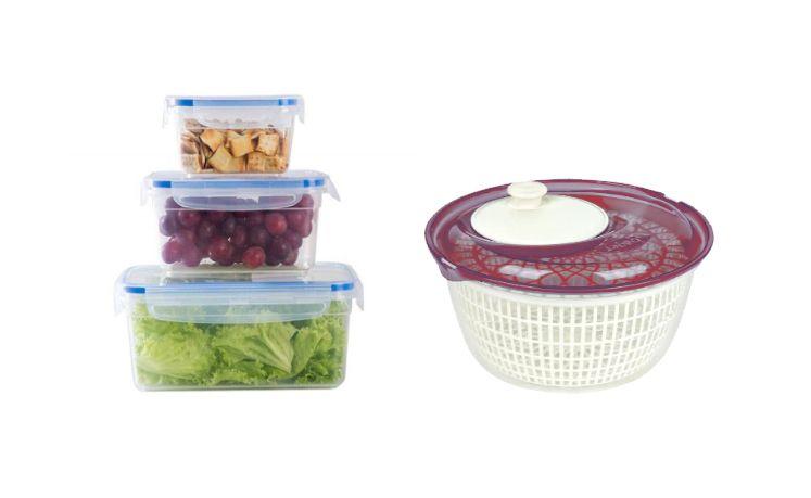 Centrífuga para Salada - Casambiente + Potes De Mantimentos De Vidro 3 Peças Casambiente