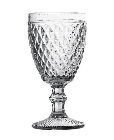 Conjunto de 6 Taças de Água em Vidro Bico de Abacaxi 300 ml Transparente