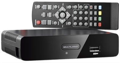 Conversor De Tv Digital Re207 + Antena Interna Digital 4 Em 1 Ultrafina - RE212