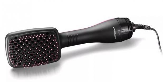 Escova Secadora Modeladora Beauty 220V com 900W Seca + Escova + Alisa Multilaser - EB015