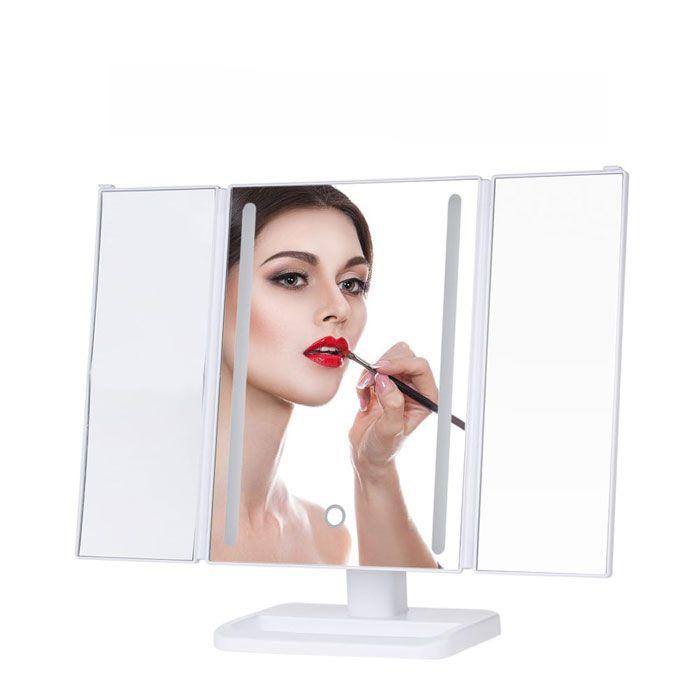 Espelho Trifold com 24LED e Touch Gbmax DC104 Branco