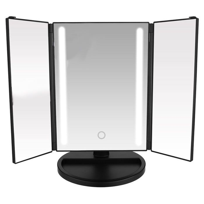 Espelho Trifold com 24LED e Touch Gbmax DC104 Preto