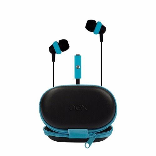Fone De Ouvido Case Oex Azul/preto FN-406