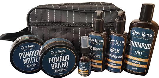Kit Barba Don Lopes Balm + Óleo + Pomada + Pós Barba +  Shampoo Brinde