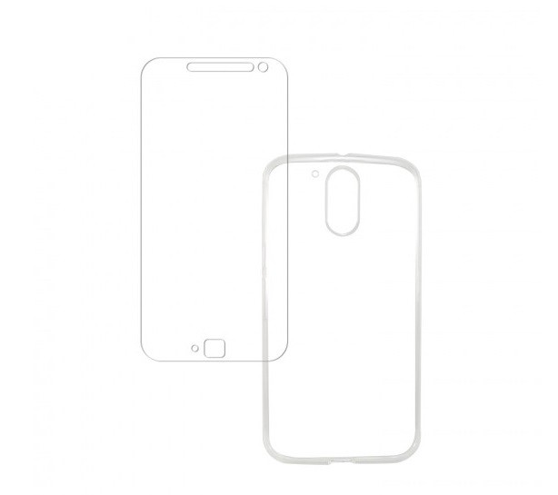 Kit Capa Acrílico  (+Película de Vidro) para Moto G4 Plus