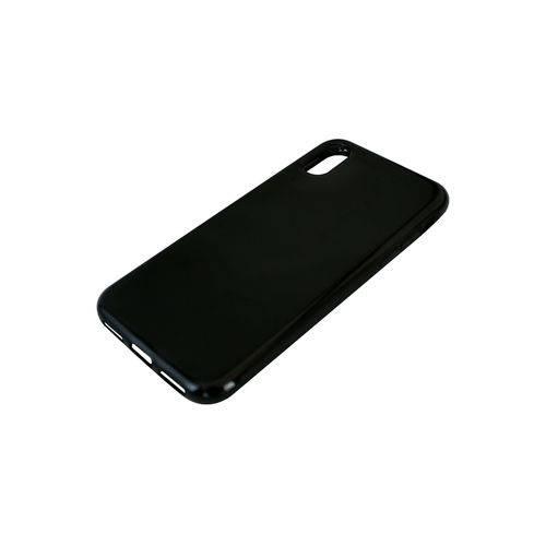 Kit Capa +Película de Vidro  para iPhone X em Tpu -Fumê