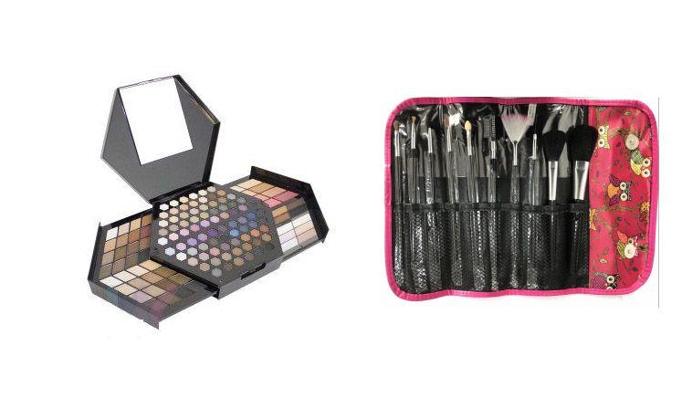 Kit de Maquiagem Honeycomb Luisance L6027 + Kit de 10 Pincéis
