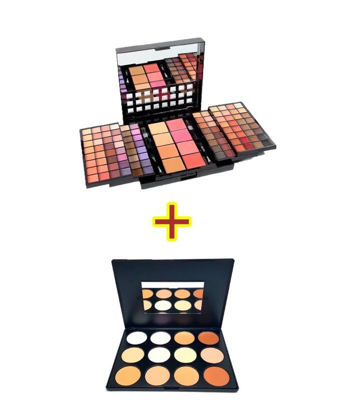 Kit de Maquiagem Studio Pro Compact - L967 + Paleta de Correção e Contorno Charmy Luisance L783