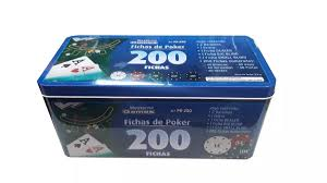 Kit Lata Poker 200 Fichas - Western Com Numeração Pk-250
