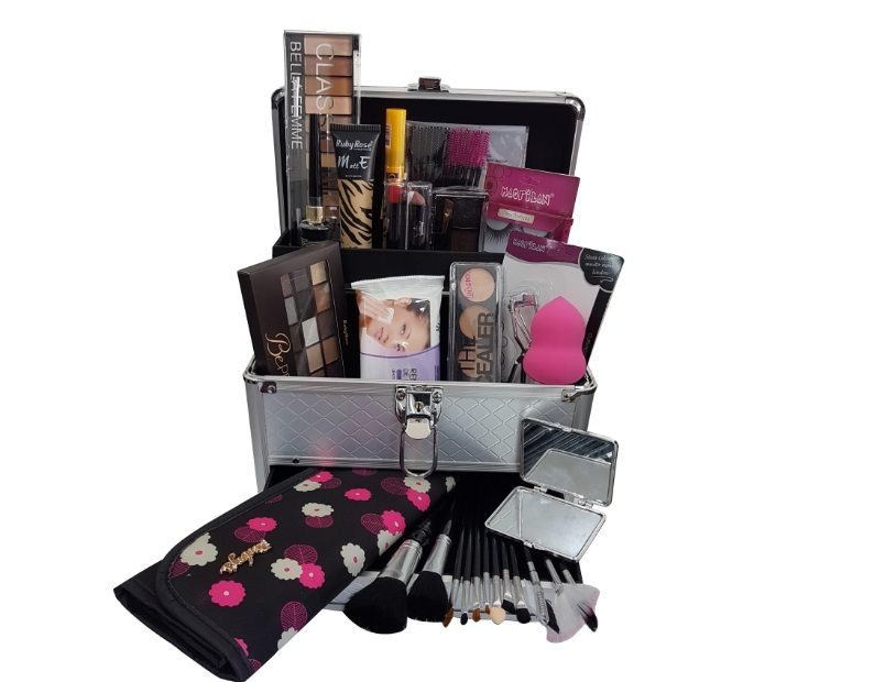 Maleta de Maquiagem Grande Kit de Maquiagem Completo Profissional Ruby Rose Kit 2