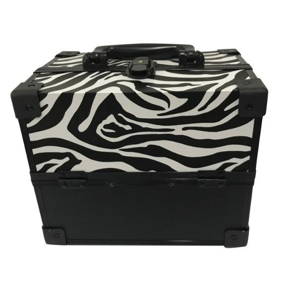 Maleta de Maquiagem Grande Kit de Maquiagem Completo Profissional Zebra